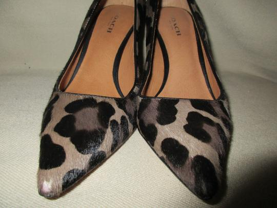 COAC Animal Print Italy Pony Hair Sexy LEOPARD Pumps Image 3