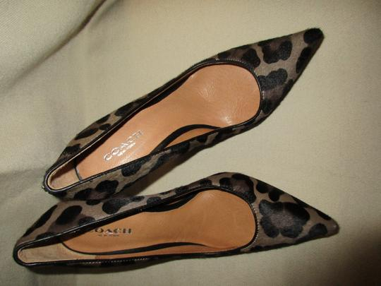 COAC Animal Print Italy Pony Hair Sexy LEOPARD Pumps Image 4