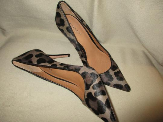 COAC Animal Print Italy Pony Hair Sexy LEOPARD Pumps Image 7