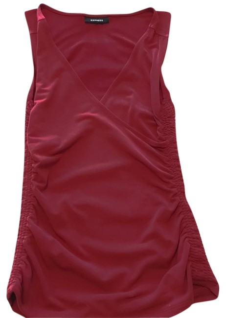 Item - Red Satin Shirt Soft Ruched Tank Top/Cami Size 4 (S)