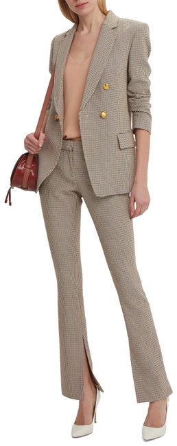 Item - Gold L Javier Plaid Trousers/Pants Houndstooth Pants Size 6 (S, 28)