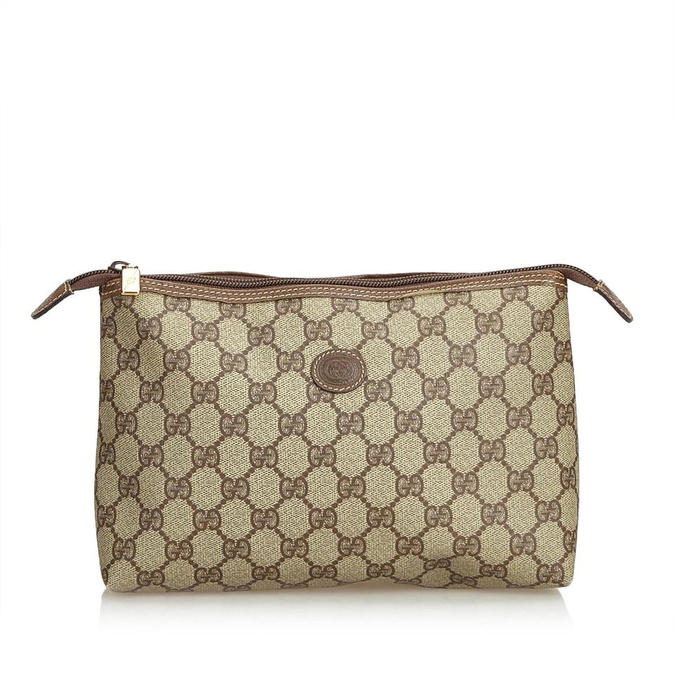 2e4c56331ed Gucci 9cgupo002 Vintage Plastic Leather Wristlet in Brown Image 0 ...