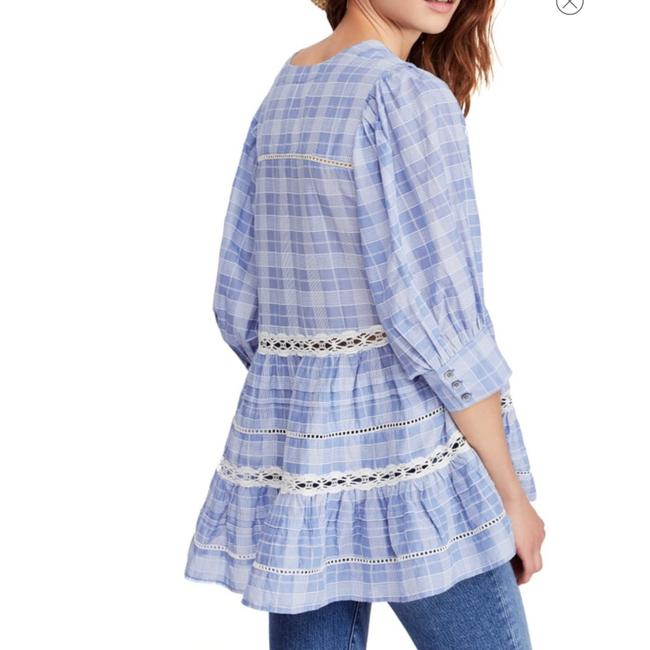 82156af582 Free People Chambray Combo Time Out Lace Small Tunic Size 6 (S ...