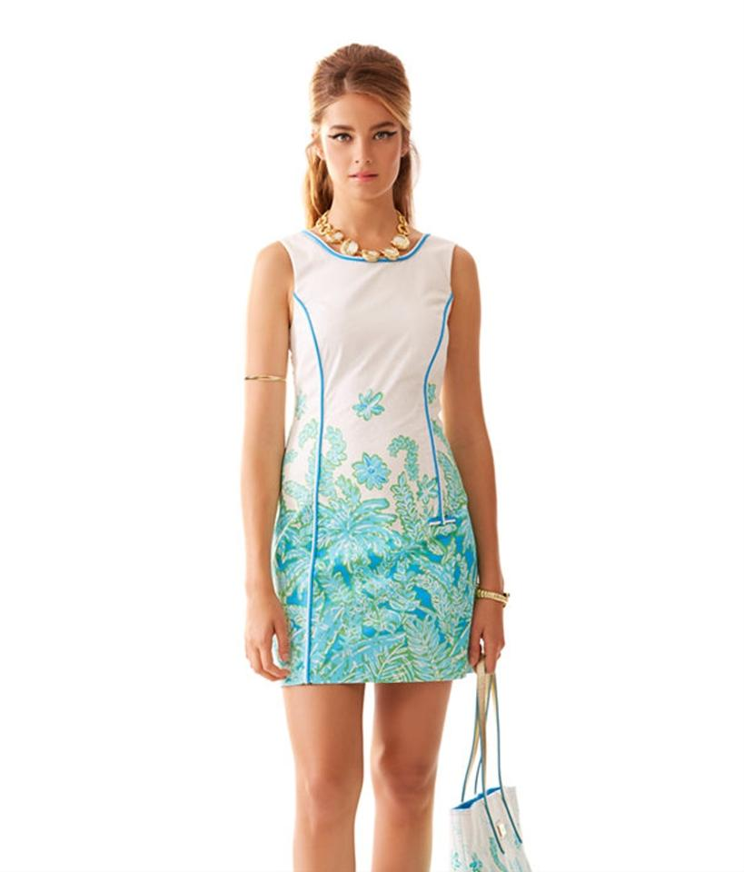 0062d88a6c9 Lilly Pulitzer White Carlow Resort Palm Party Short Casual Dress ...