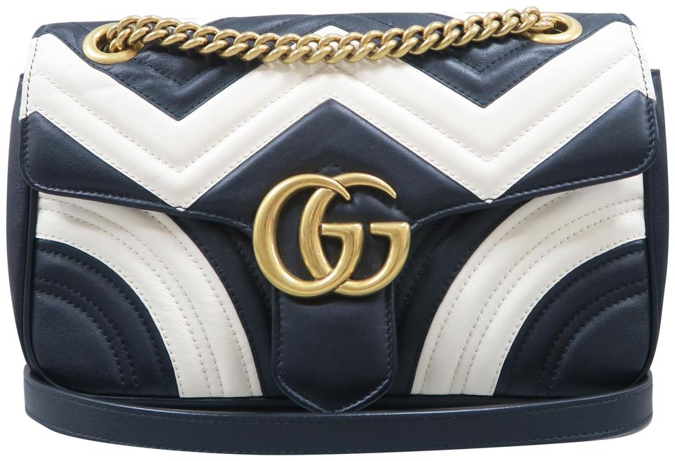 6a80618b8241 Gucci Marmont Small Multicolor Calfskin Leather Shoulder Bag - Tradesy