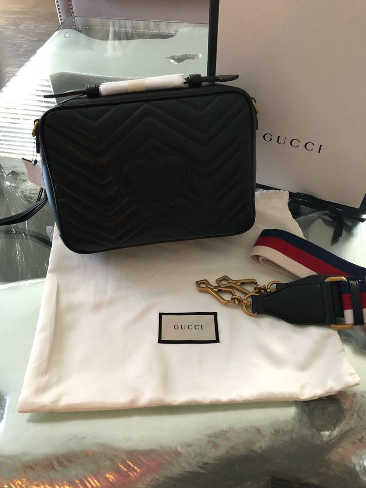d5906bb8011d Gucci Marmont Small Gg 2.0 Matelassé Leather Camera with Webbed ...