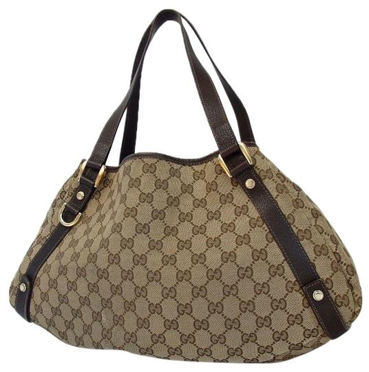 3f08a36d806 Gucci Leather Guccisma Tote in Brown Image 0 ...