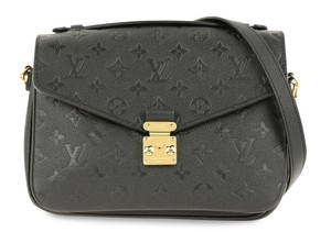 Louis Vuitton Lv Metis Calfskin Empreinte Satchel in Black