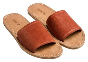 Vince Rust Suede Mules