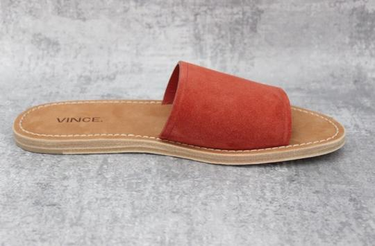 Vince Rust Suede Mules Image 10