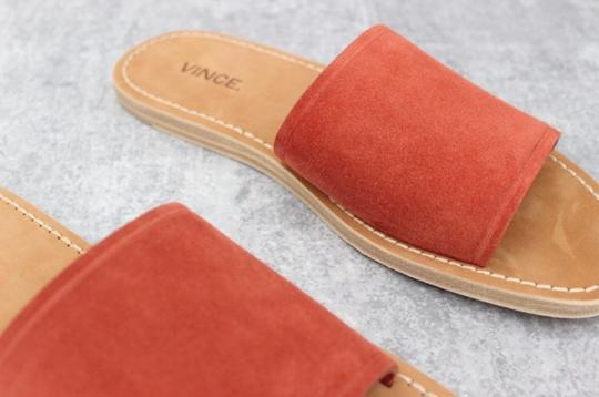 Vince Rust Suede Mules Image 11