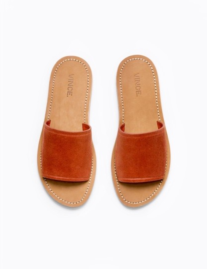 Vince Rust Suede Mules Image 2