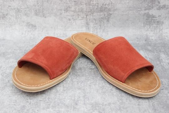 Vince Rust Suede Mules Image 5