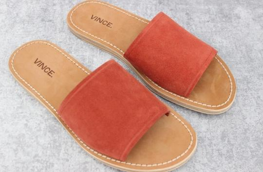 Vince Rust Suede Mules Image 6