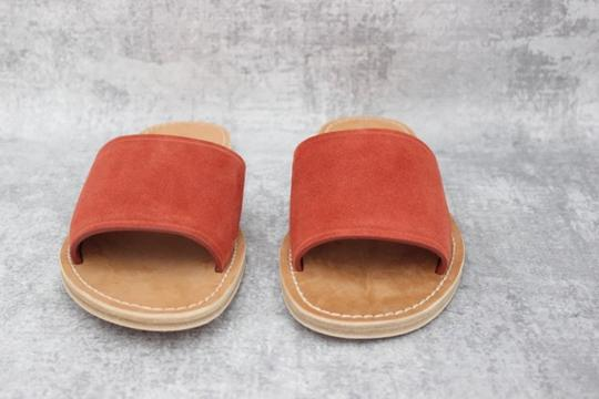 Vince Rust Suede Mules Image 7