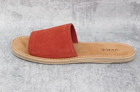 Vince Rust Suede Mules Image 9