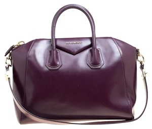 Givenchy Leather Satchel in Purple