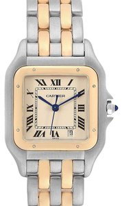 Cartier Cartier Panthere Large Steel Yellow Gold Two Row Mens Watch W25028B8