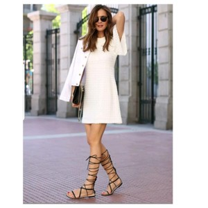 Zara short dress White on Tradesy