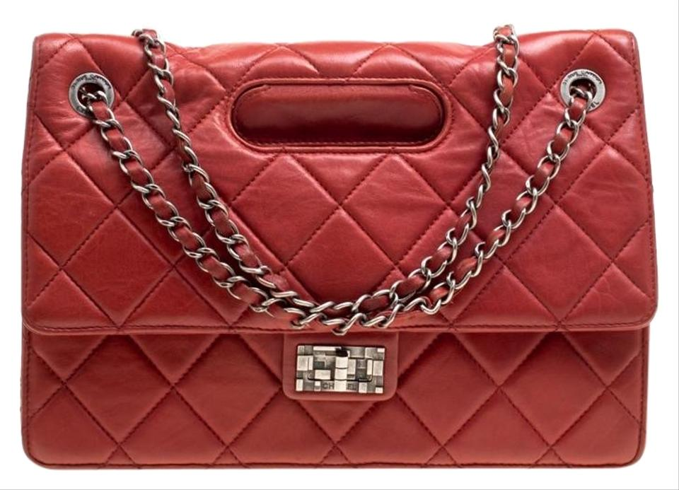 1a4fea5dceb3eb Chanel Classic Flap Quilted Jumbo Takeaway Red Leather Shoulder Bag ...