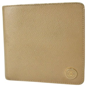 Chanel Auth Chanel Brown Leather Wallet #485L1073