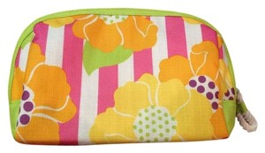 Clinique Floral / Striped Cosmetic Bag