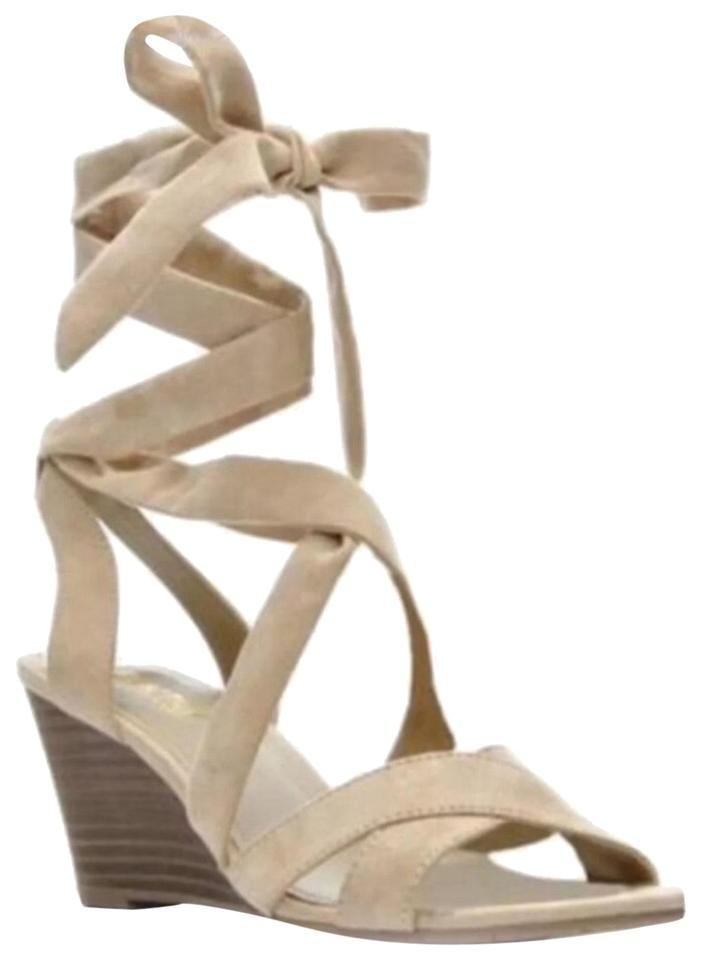 71d1314fa53 Kenneth Cole Reaction Nude Ankle Lace Up Wedges Size US 9 Regular (M ...