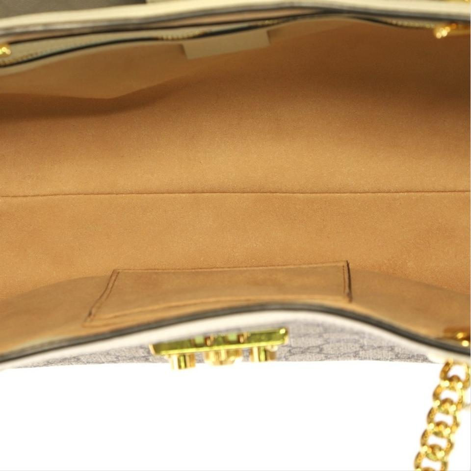 0e845cc95b5 Gucci Padlock Chain Tote Gg Medium Beige Coated Canvas Shoulder Bag ...