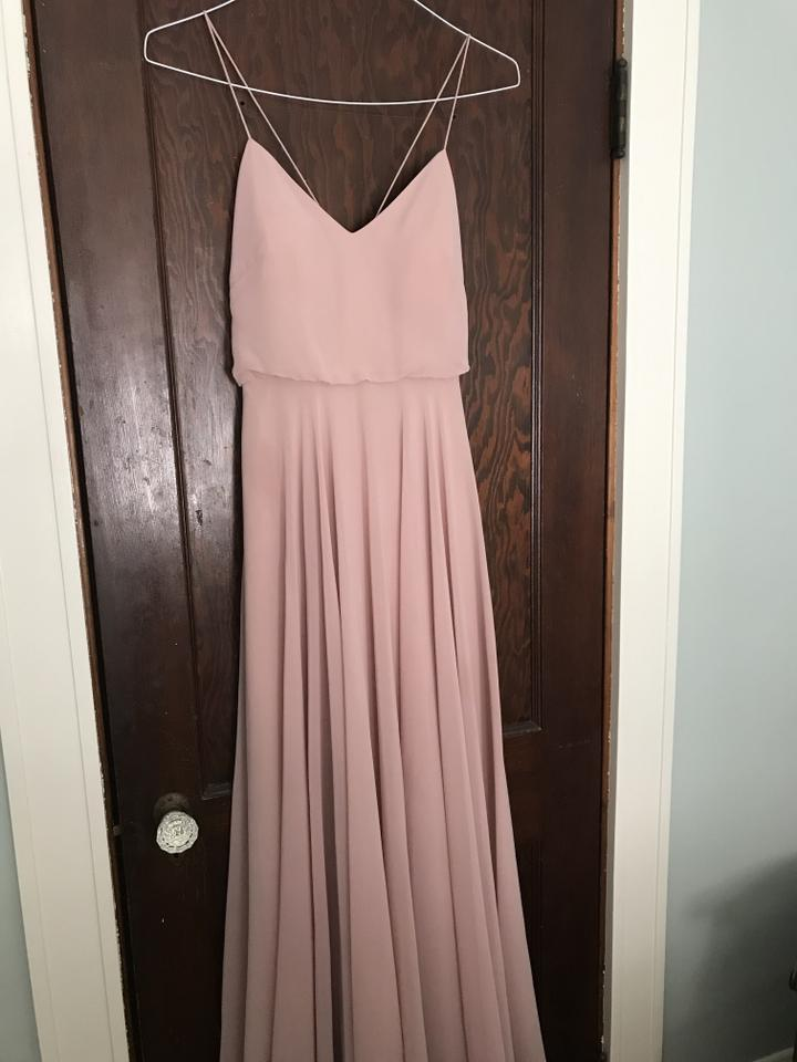 384a1af3af73 Jenny Yoo Whipped Apricot Chiffon Inesse V-neck Spaghetti Strap Gown (Item  #5094399 ...