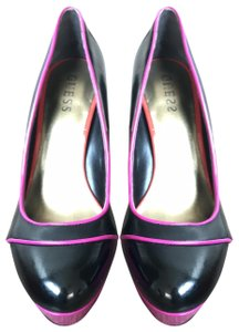 Guess Black with pink piping/platforms and red stiletto Platforms