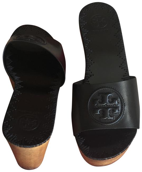 Item - Perfect Black Parry 80mm Slide Veg Nappa. Wedges Size US 6.5 Wide (C, D)