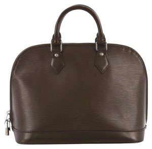 Louis Vuitton Leather Alma Satchel in brown
