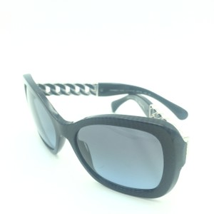 7b8e906296 Chanel Chanel Blue Black Cat Eyed Butterfly Sunglasses 5305 1409 S2