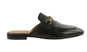 Gucci Leather Gold Hardware Black Flats