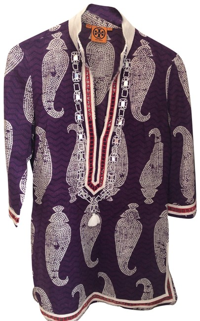 Item - Purple Red White Paisley Tunic Size 4 (S)