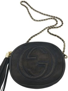 Gucci Chain Soho Leather Camera Cross Body Bag