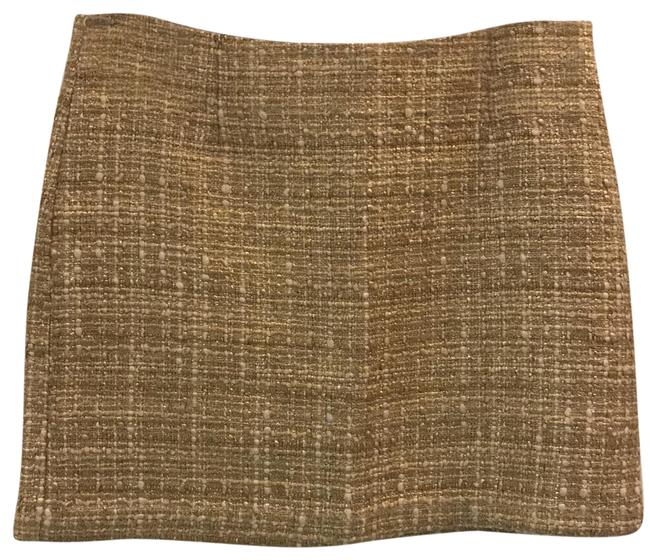 Item - Gold Tweed Skirt Size 2 (XS, 26)