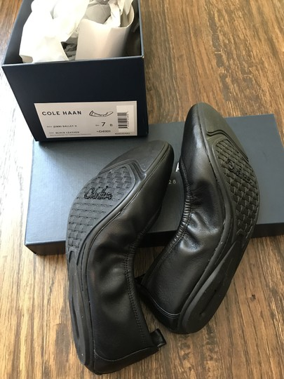 Cole Haan Leather Black Flats Image 1