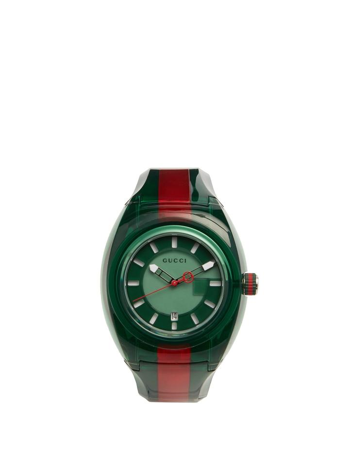 209ee729cc2 Gucci Green Red Sync Xxl 46mm Dial Men s Twotone Green Red Rubber Ya137113  Watch
