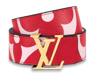 Louis Vuitton Giant Iconic 30MM Reversible Monogram Canvas Belt Gold LV Logo