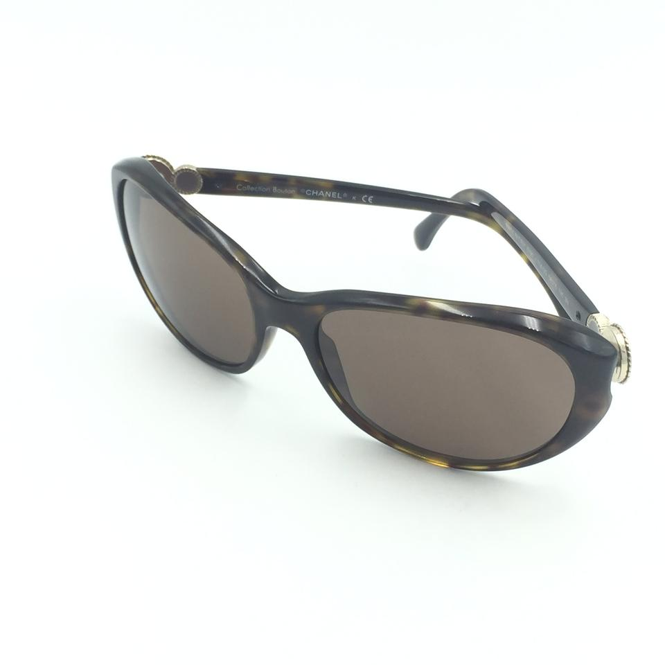7b46ded160 Chanel Oval Tortoise Gold Brown Sunglasses 5190 714 3G Image 9. 12345678910