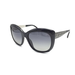 Chanel Chanel Black Tweed Sunglasses