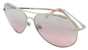 fa44101f89ec Chanel Chanel Silver   Light Pink Aviator Sunglasses 4189-T-Q 1245 5Z