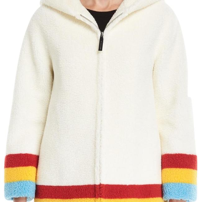 Item - Off White Craven Striped Faux-shearling Hooded Jacket Size 4 (S)