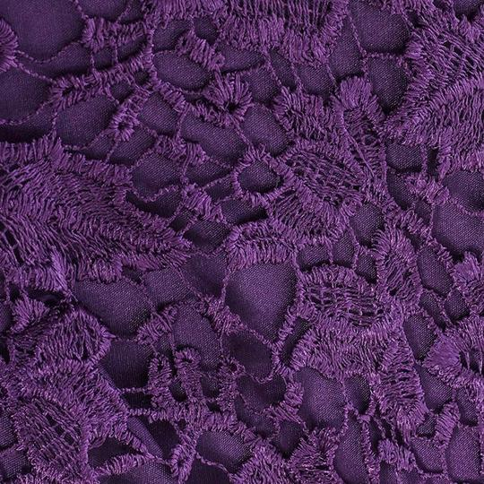 Purple Embroidery Tule and Polyester. Maxi Formal Bridesmaid/Mob Dress Size 10 (M) Image 1