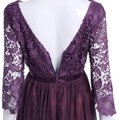Purple Embroidery Tule and Polyester. Maxi Formal Bridesmaid/Mob Dress Size 10 (M) Image 2