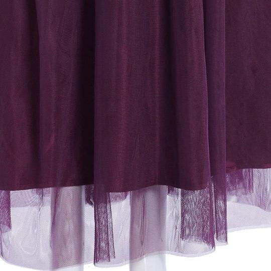 Purple Embroidery Tule and Polyester. Maxi Formal Bridesmaid/Mob Dress Size 10 (M) Image 3