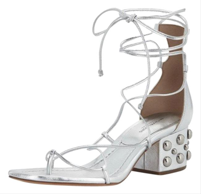 Item - Silver Lace Up Sandals Size US 7.5 Regular (M, B)