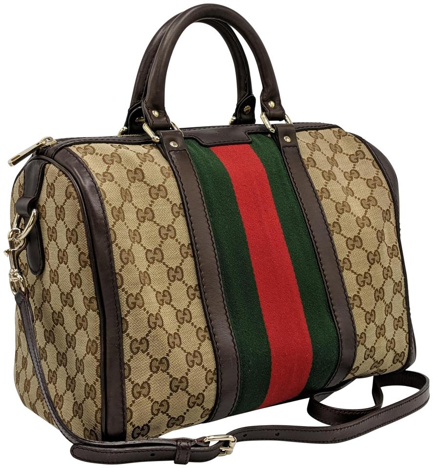 25488921b Gucci Gg Monogram Supreme Web Crossbody Satchel Image 0 ...