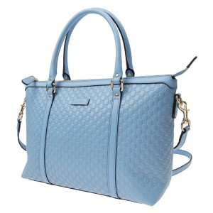 239be3378 Gucci Leather Gg Cross Body Tote in blue